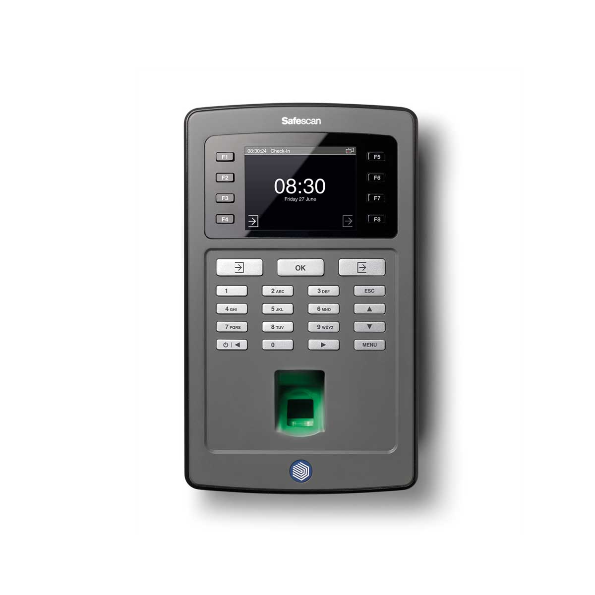 Safescan TA-8020 Time Attendance System with Fingerprint Sensor and TA Software