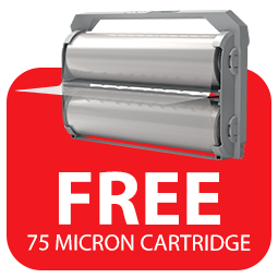 Free 75 Micron Cartridge with purchase of a GBC Foton 30 Icon