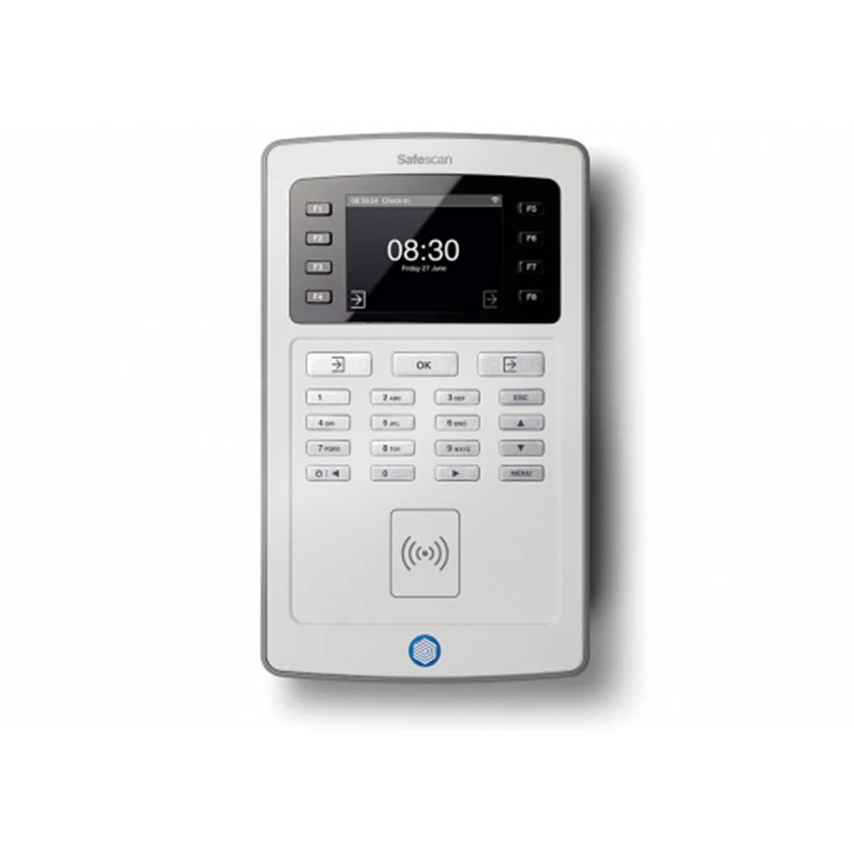 Safescan TA-8015 Time Attendance System and Software with RFID and Wi-Fi - Grey