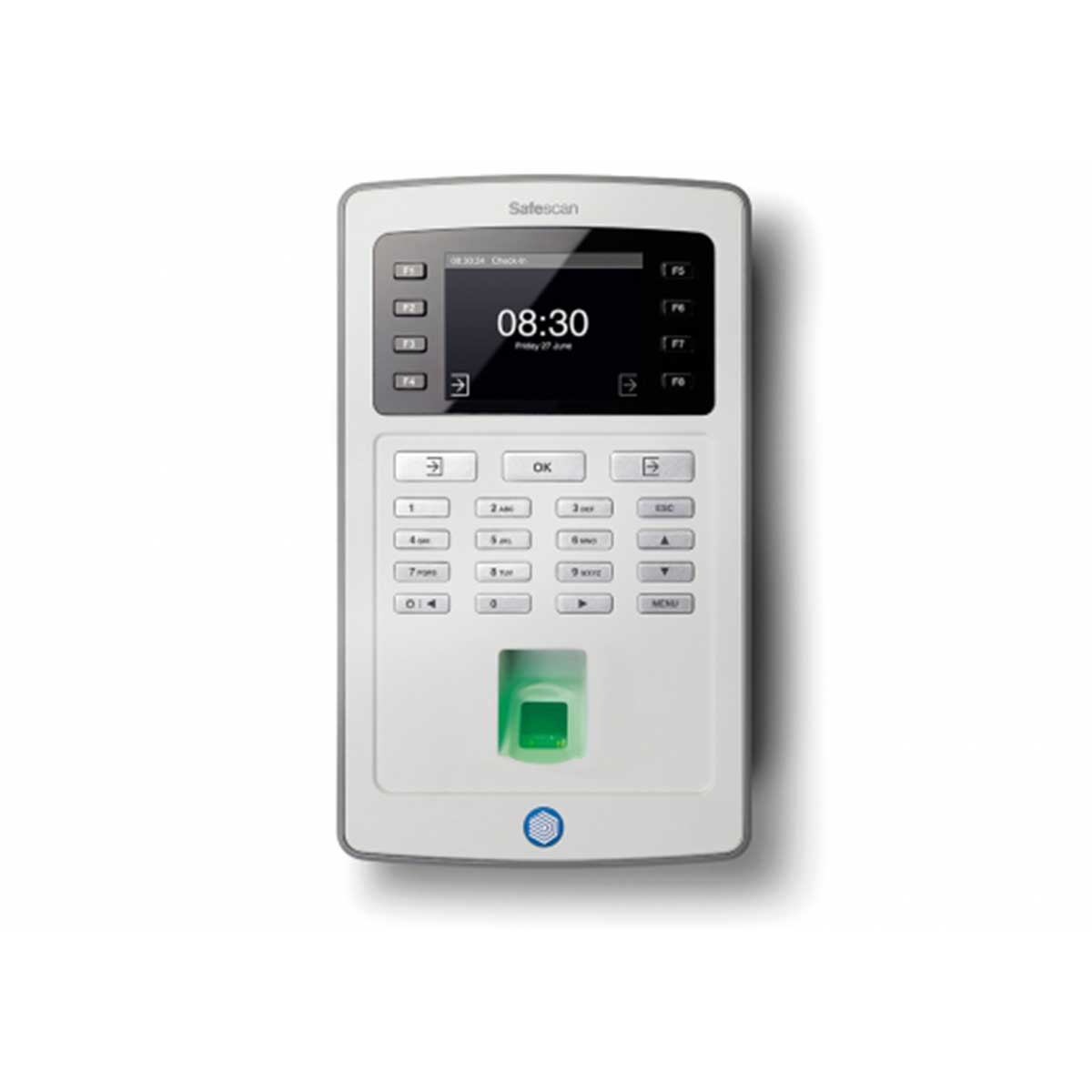 Safescan TA-8025 Time Attendance System and Software with Fingerprint Sensor and Wi-Fi - Grey