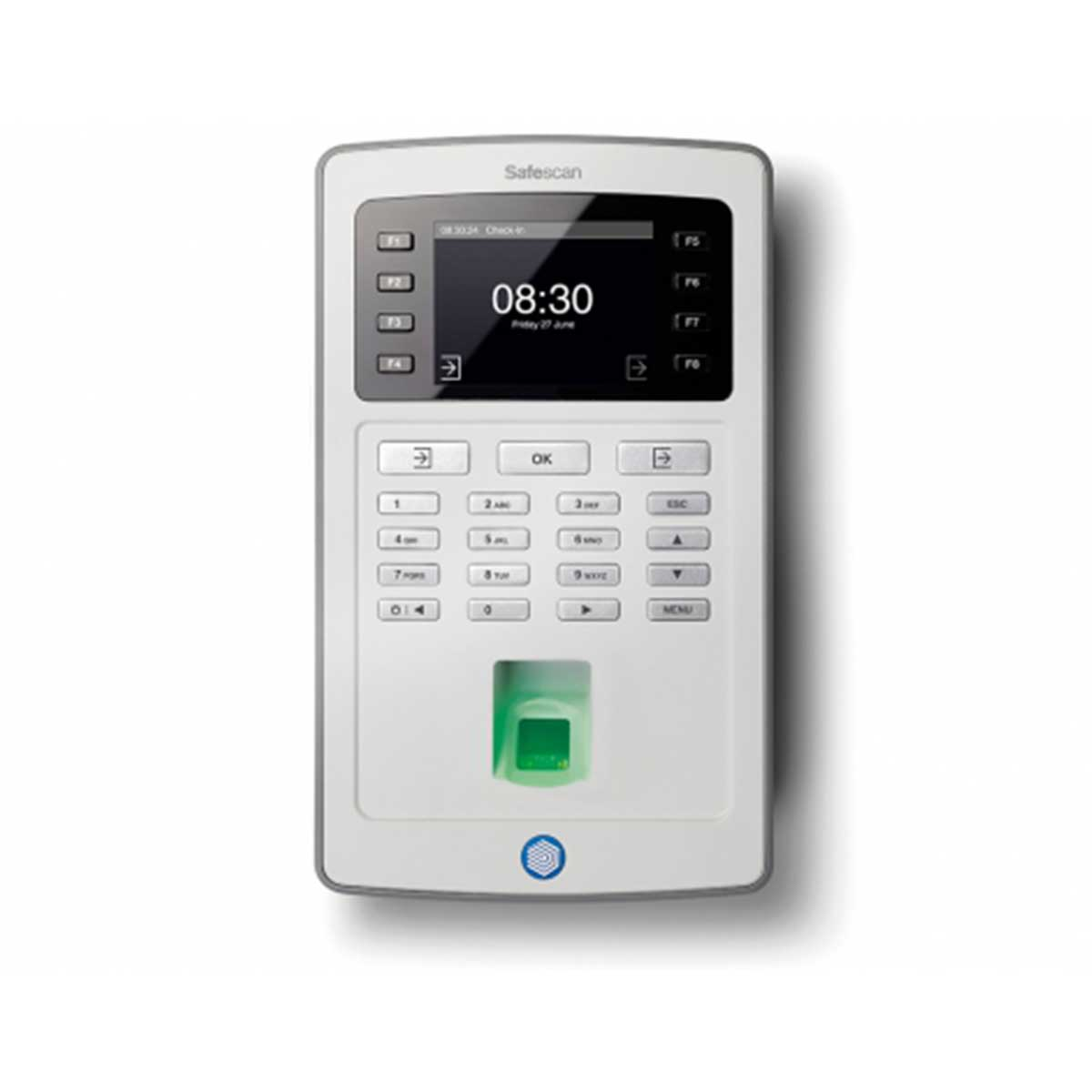Safescan TA-8035 Time Attendance System and Software with RFID and Fingerprint Reader and Wi-Fi - Grey